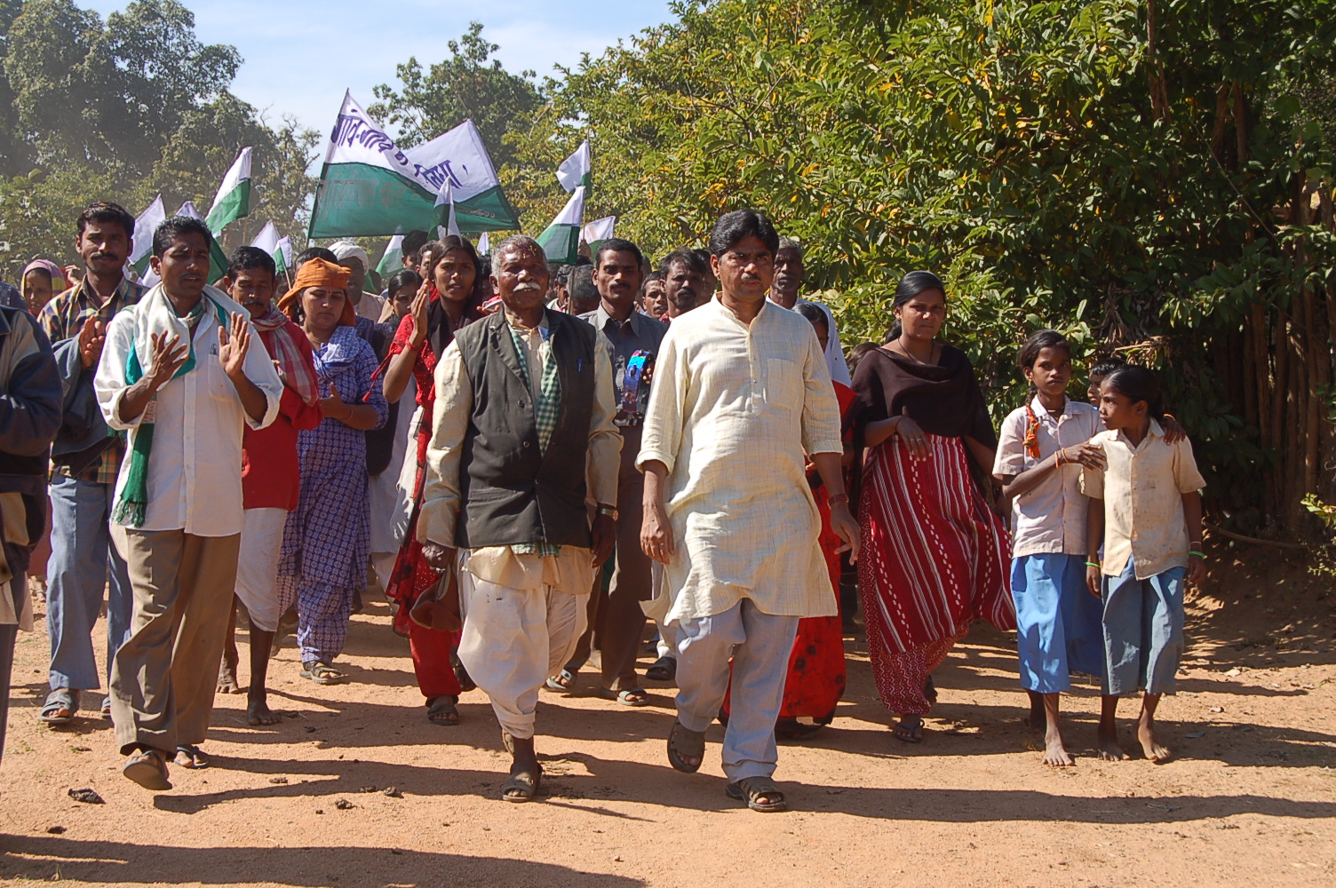 Ekta_Parishad_Walk,_Chhattisgarh,_Nov_2005